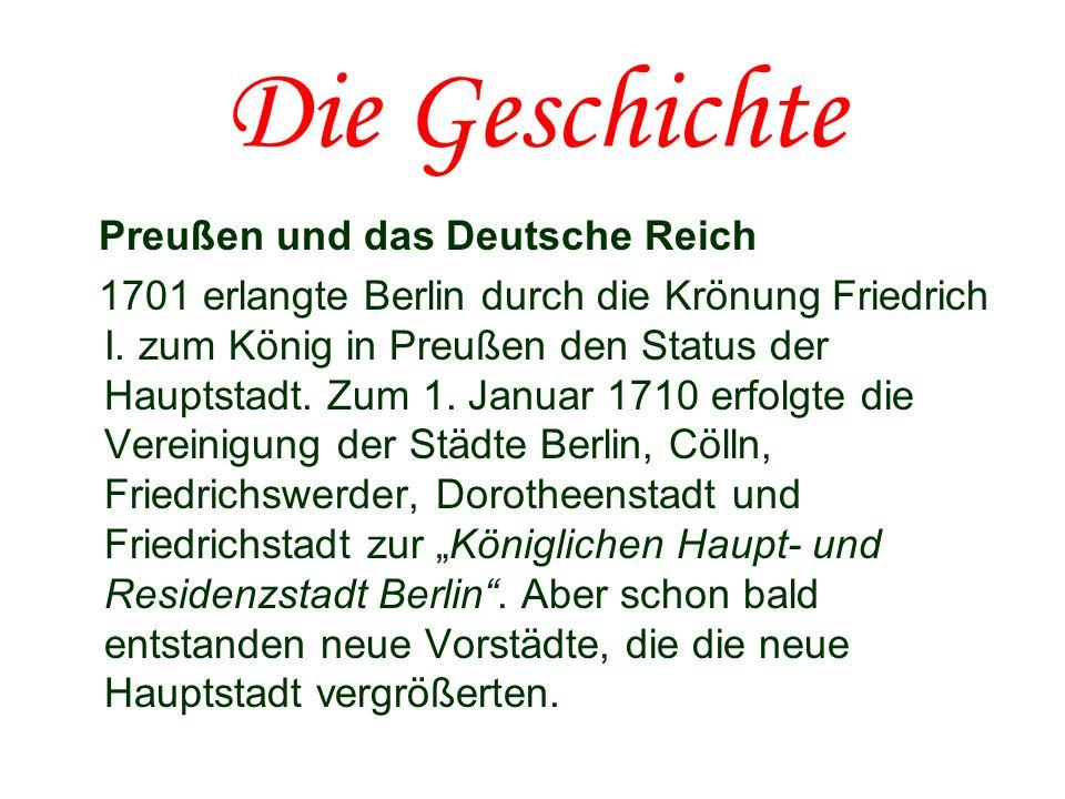 Die Geschichte Preußen und das Deutsche Reich