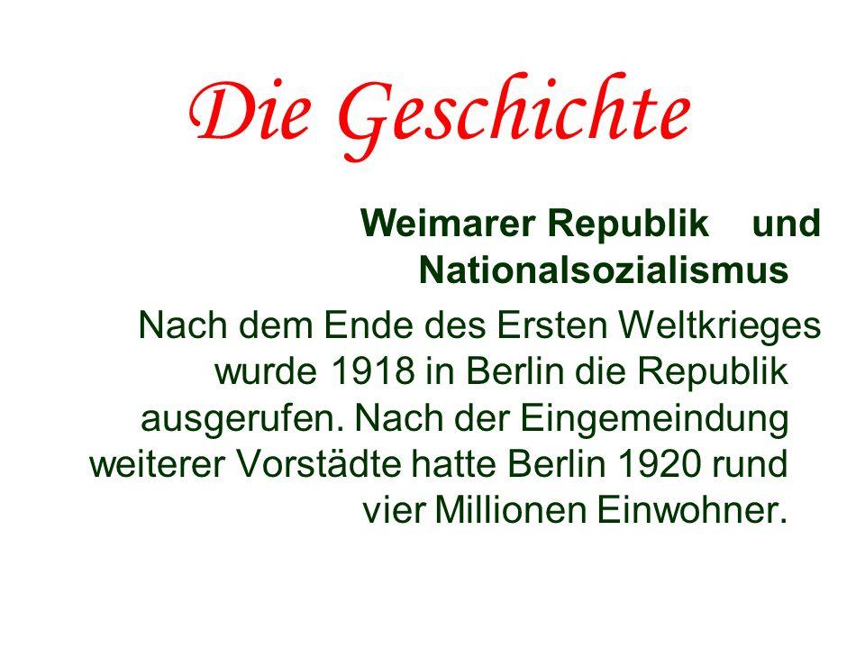 Die Geschichte Weimarer Republik und Nationalsozialismus