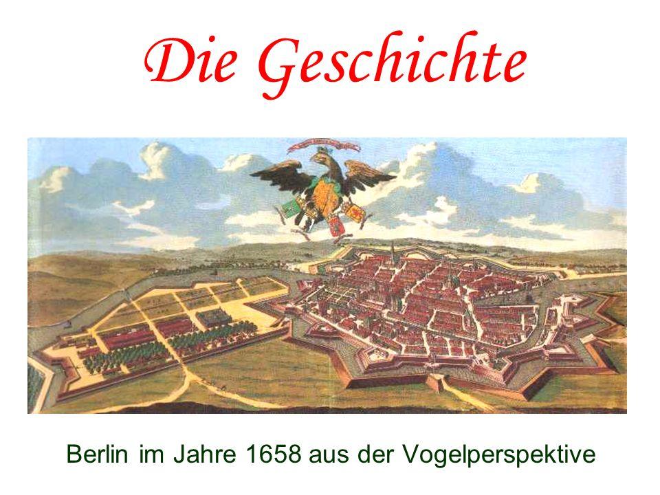 Berlin im Jahre 1658 aus der Vogelperspektive
