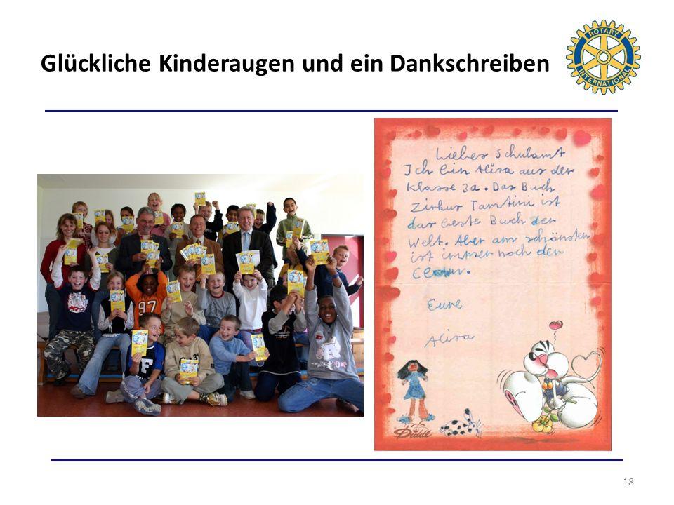Glückliche Kinderaugen und ein Dankschreiben