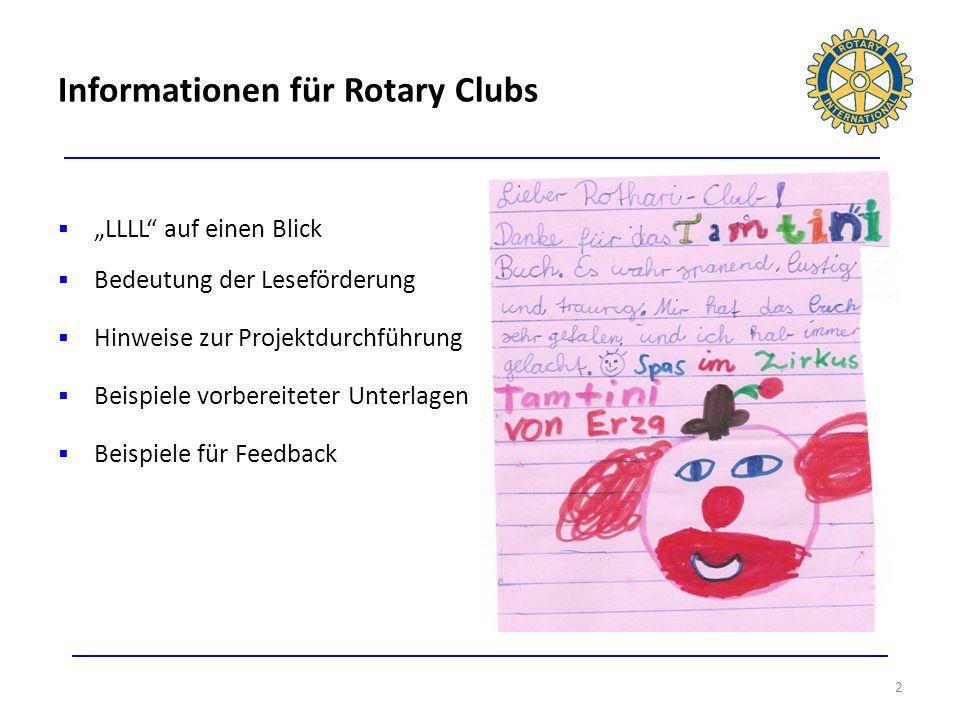 Informationen für Rotary Clubs