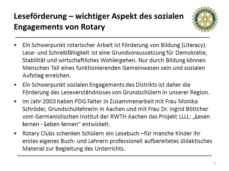 Leseförderung – wichtiger Aspekt des sozialen Engagements von Rotary