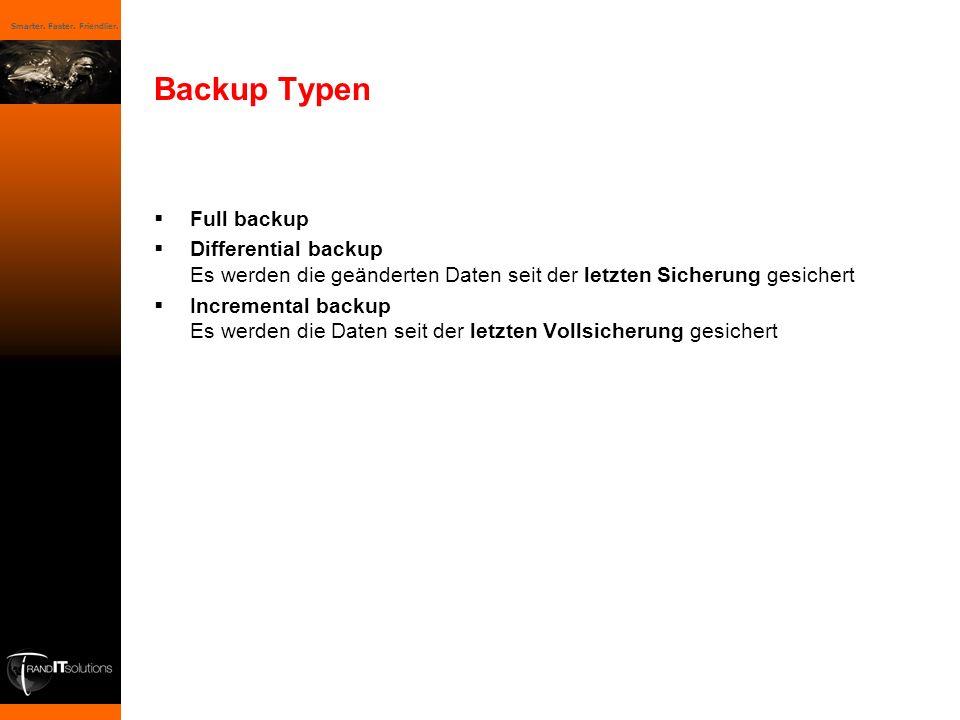 Backup Typen Full backup