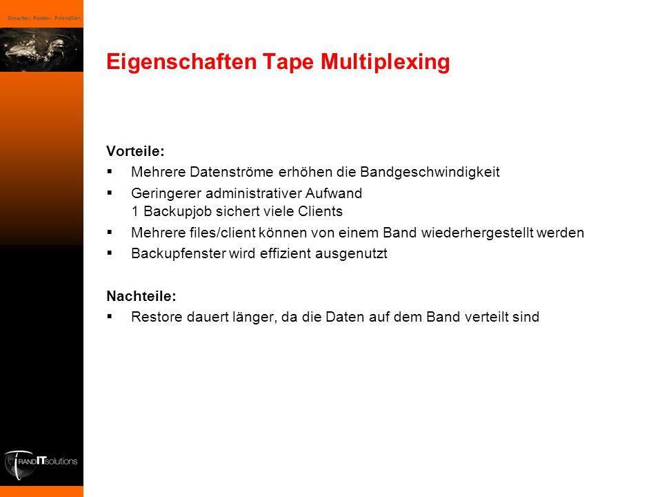 Eigenschaften Tape Multiplexing