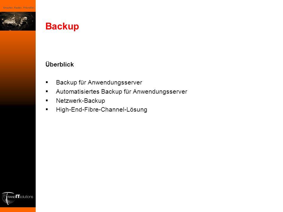 Backup Überblick Backup für Anwendungsserver