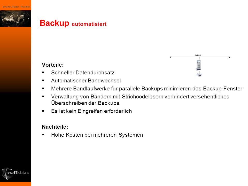 Backup automatisiert Vorteile: Schneller Datendurchsatz