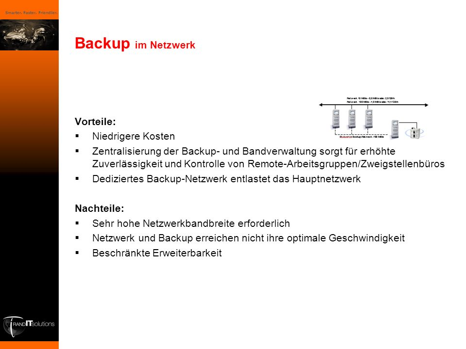 Backup im Netzwerk Vorteile: Niedrigere Kosten