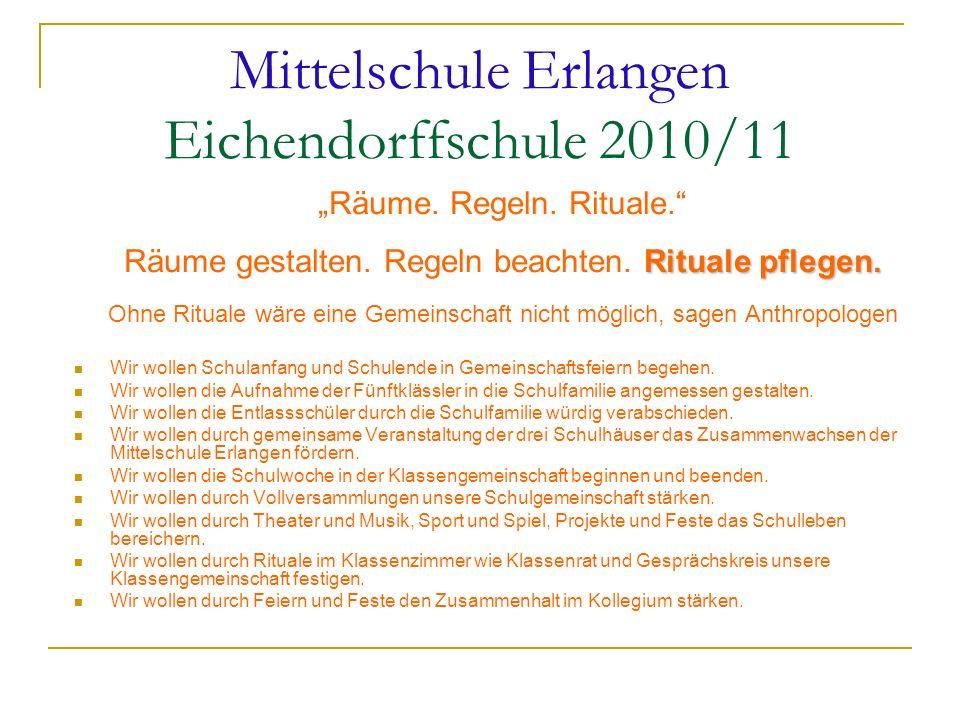 Mittelschule Erlangen Eichendorffschule 2010/11