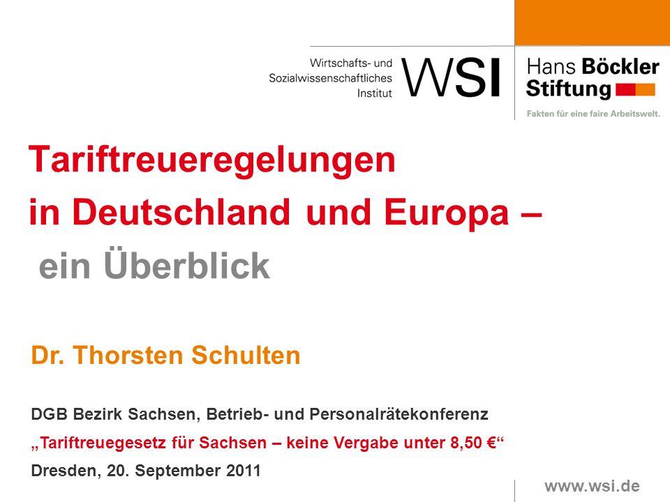 Tariftreueregelungen in Deutschland und Europa – ein Überblick