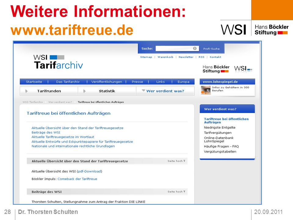 Weitere Informationen: www.tariftreue.de