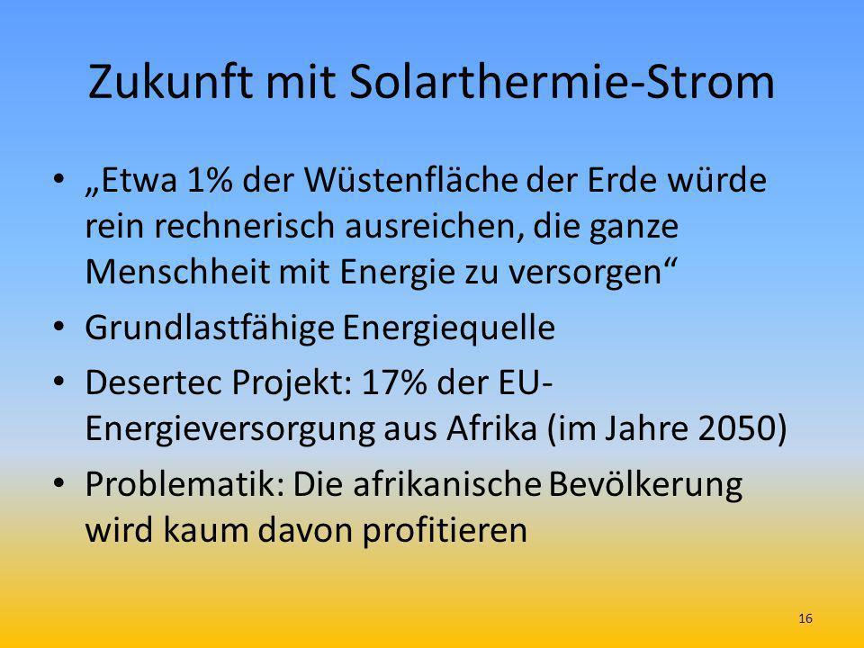 Zukunft mit Solarthermie-Strom