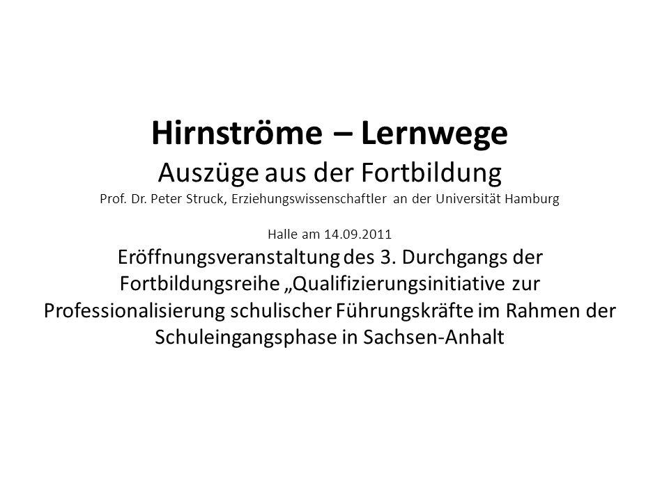 Hirnströme – Lernwege Auszüge aus der Fortbildung Prof. Dr