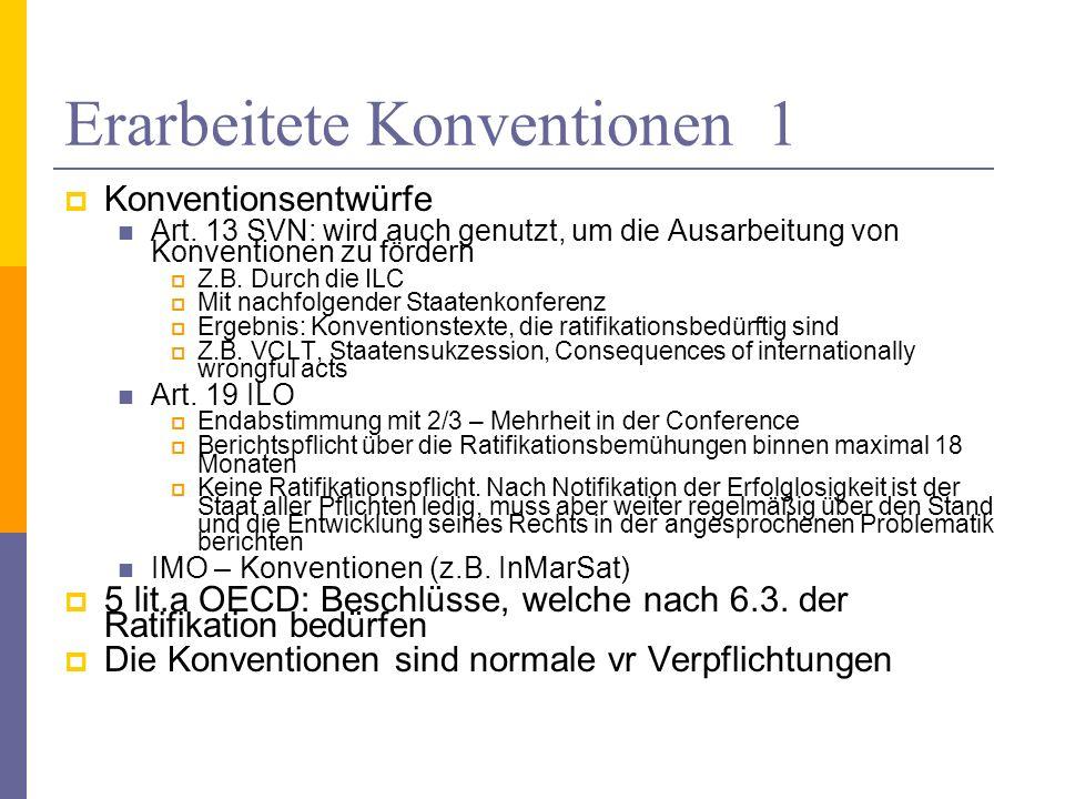 Erarbeitete Konventionen 1