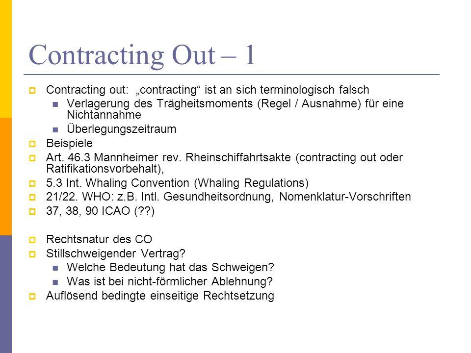 """Contracting Out – 1 Contracting out: """"contracting ist an sich terminologisch falsch."""