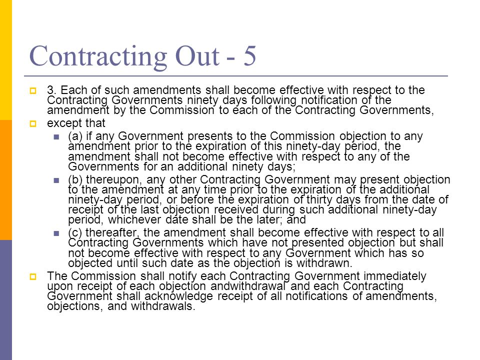 Contracting Out - 5