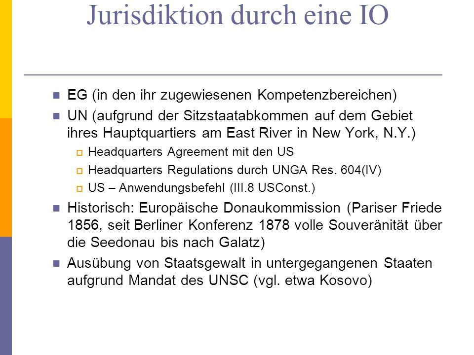 Ausübung territorialer Jurisdiktion durch eine IO