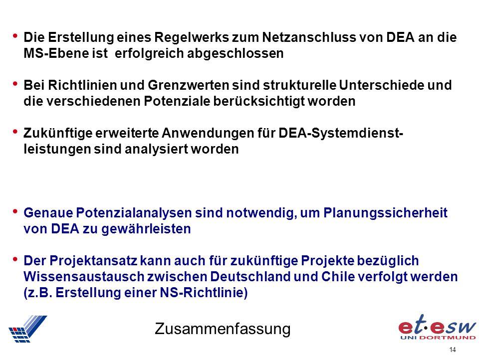 Die Erstellung eines Regelwerks zum Netzanschluss von DEA an die MS-Ebene ist erfolgreich abgeschlossen