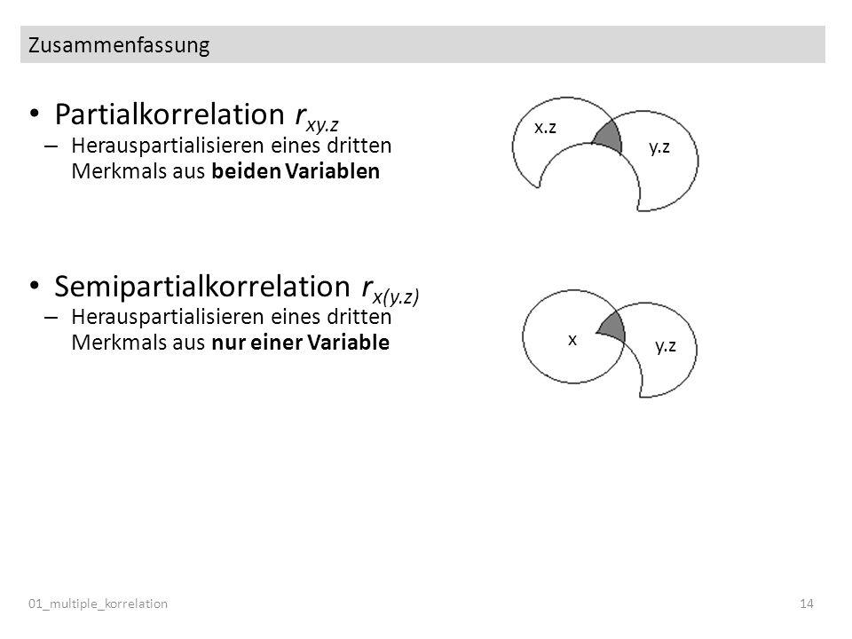 Partialkorrelation rxy.z