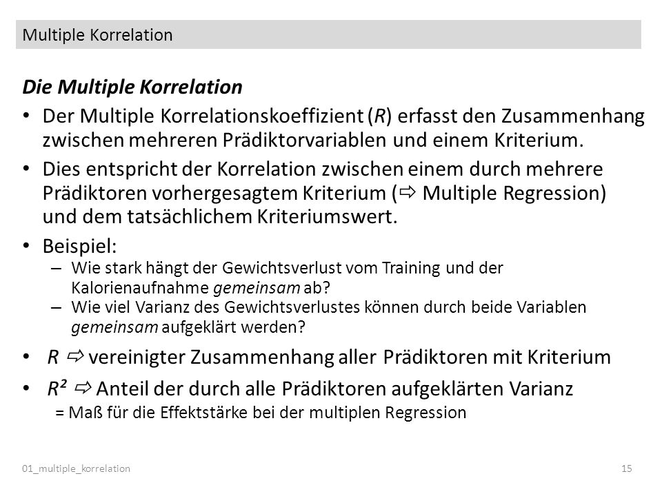 Die Multiple Korrelation