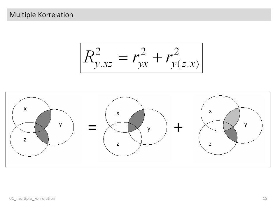 Multiple Korrelation y x z = + 01_multiple_korrelation 18