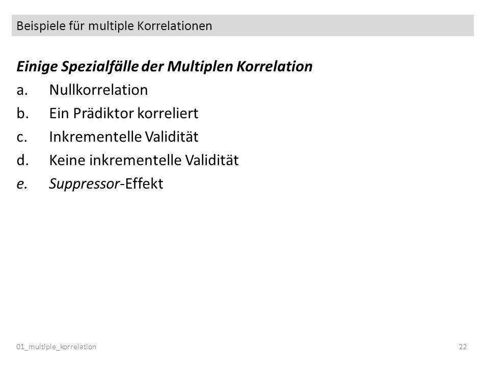 Beispiele für multiple Korrelationen