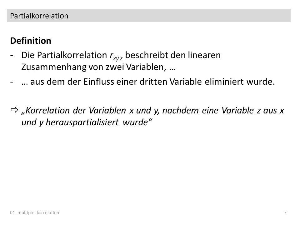 … aus dem der Einfluss einer dritten Variable eliminiert wurde.