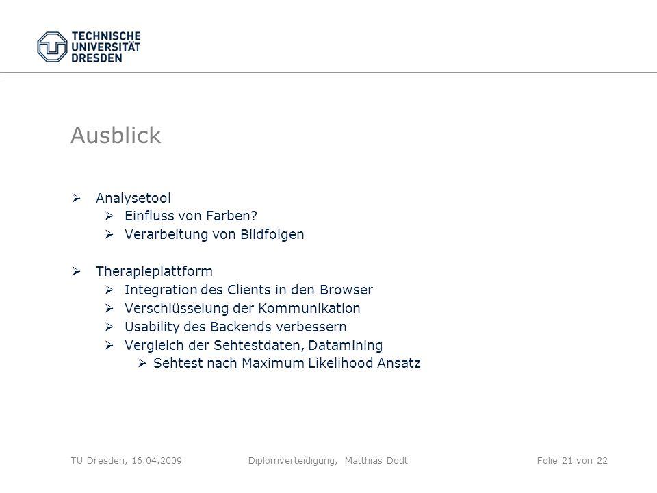 Diplomverteidigung, Matthias Dodt