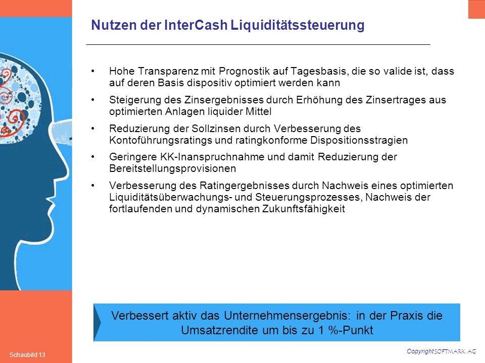Nutzen der InterCash Liquiditätssteuerung