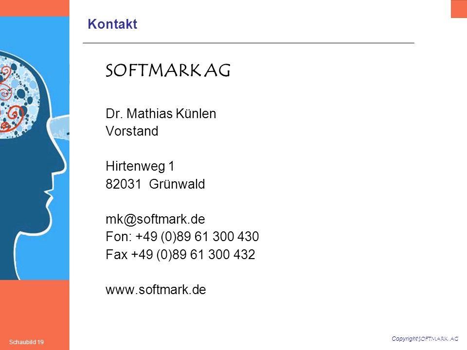 SOFTMARK AG Kontakt Dr. Mathias Künlen Vorstand Hirtenweg 1
