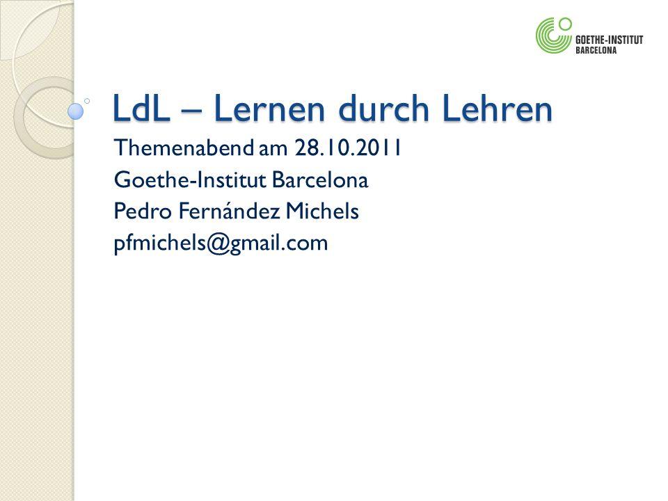 LdL – Lernen durch Lehren