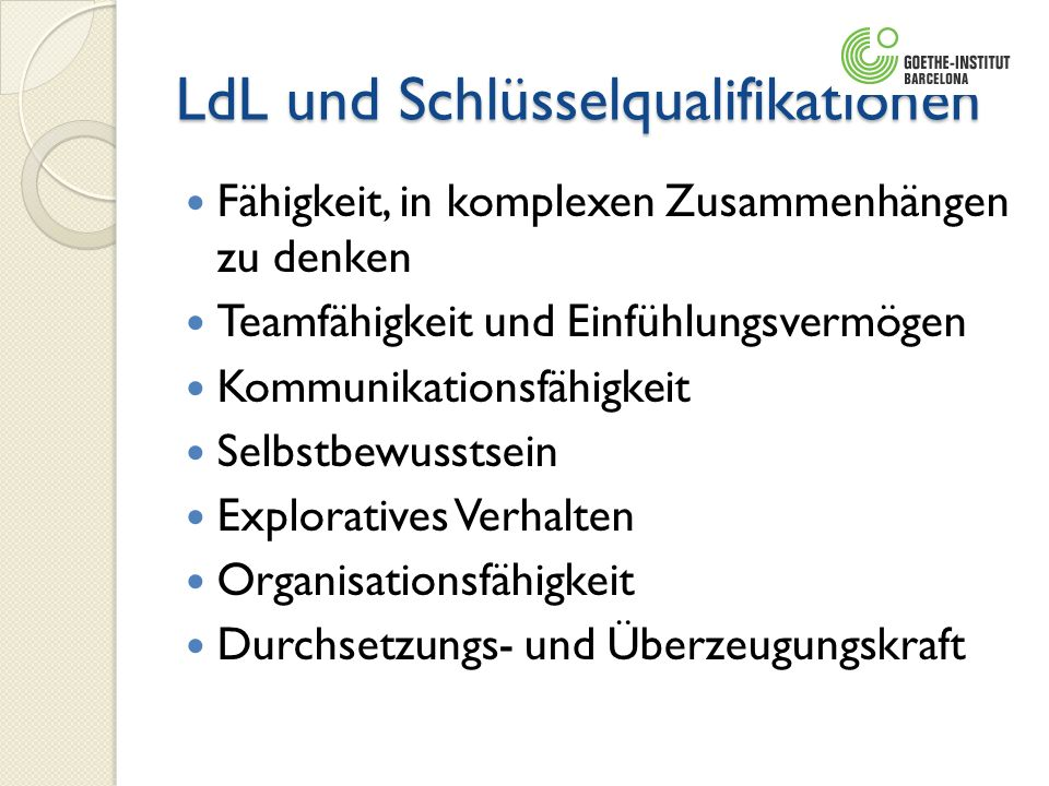 LdL und Schlüsselqualifikationen
