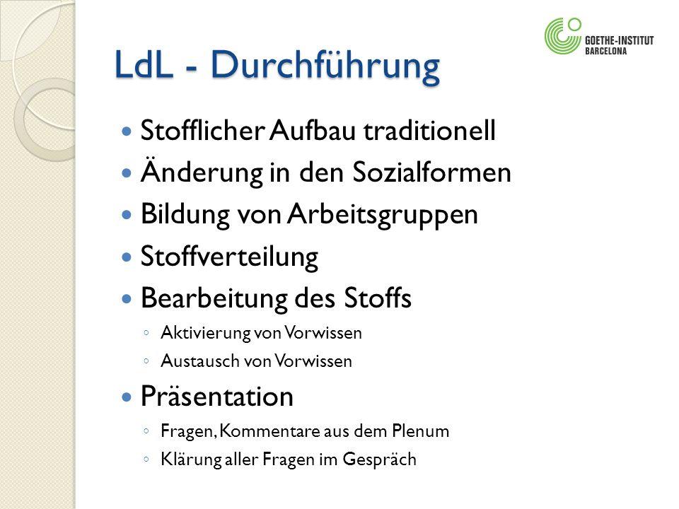 LdL - Durchführung Stofflicher Aufbau traditionell