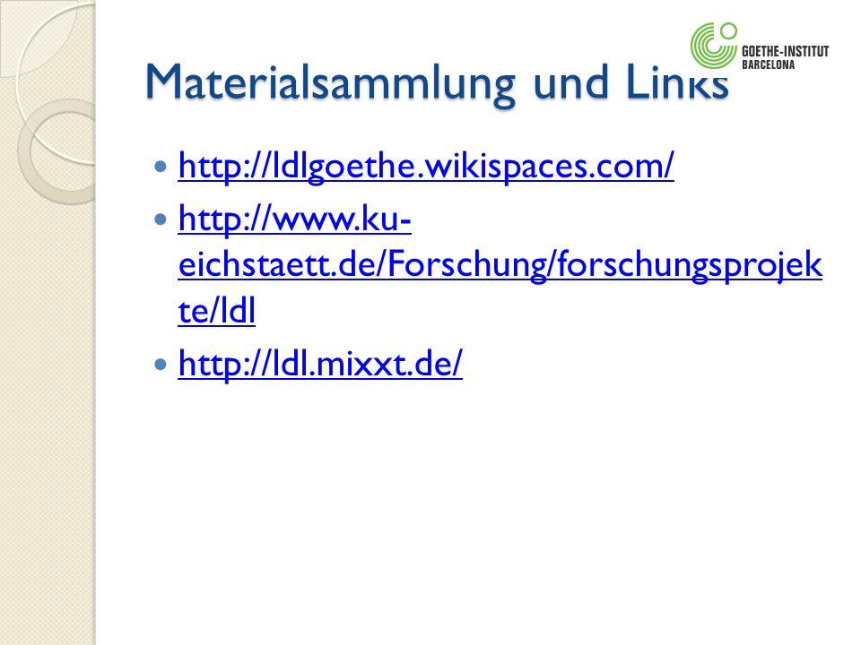 Materialsammlung und Links