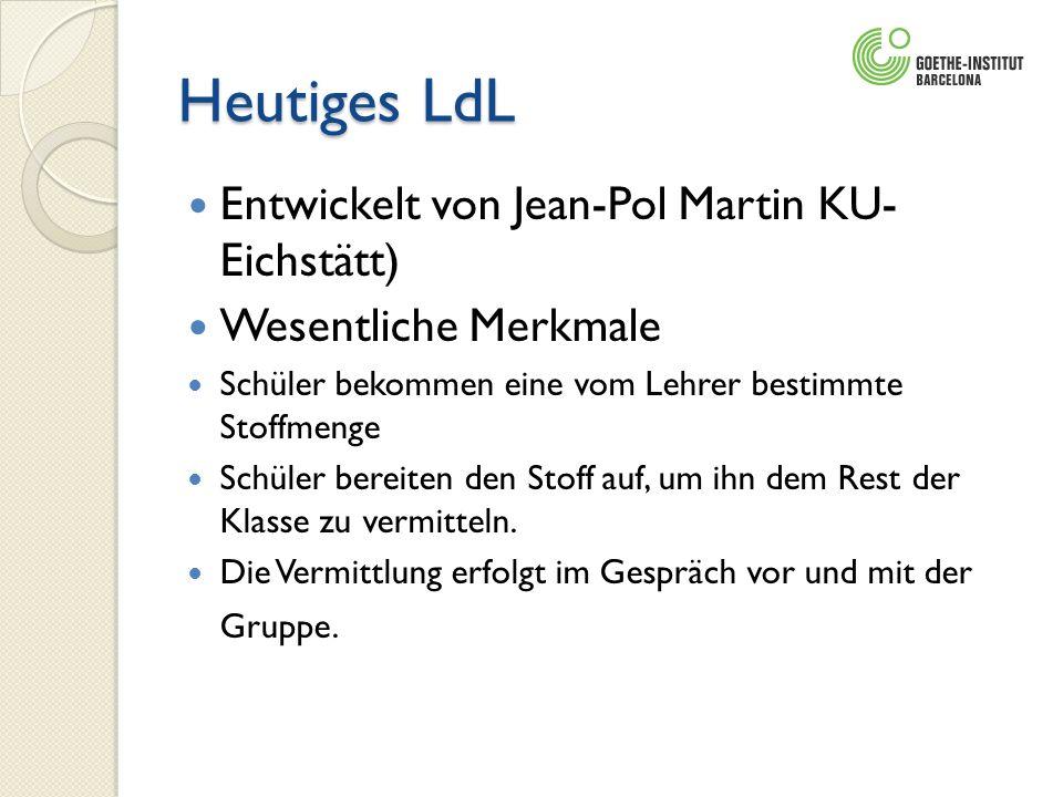 Heutiges LdL Entwickelt von Jean-Pol Martin KU- Eichstätt)