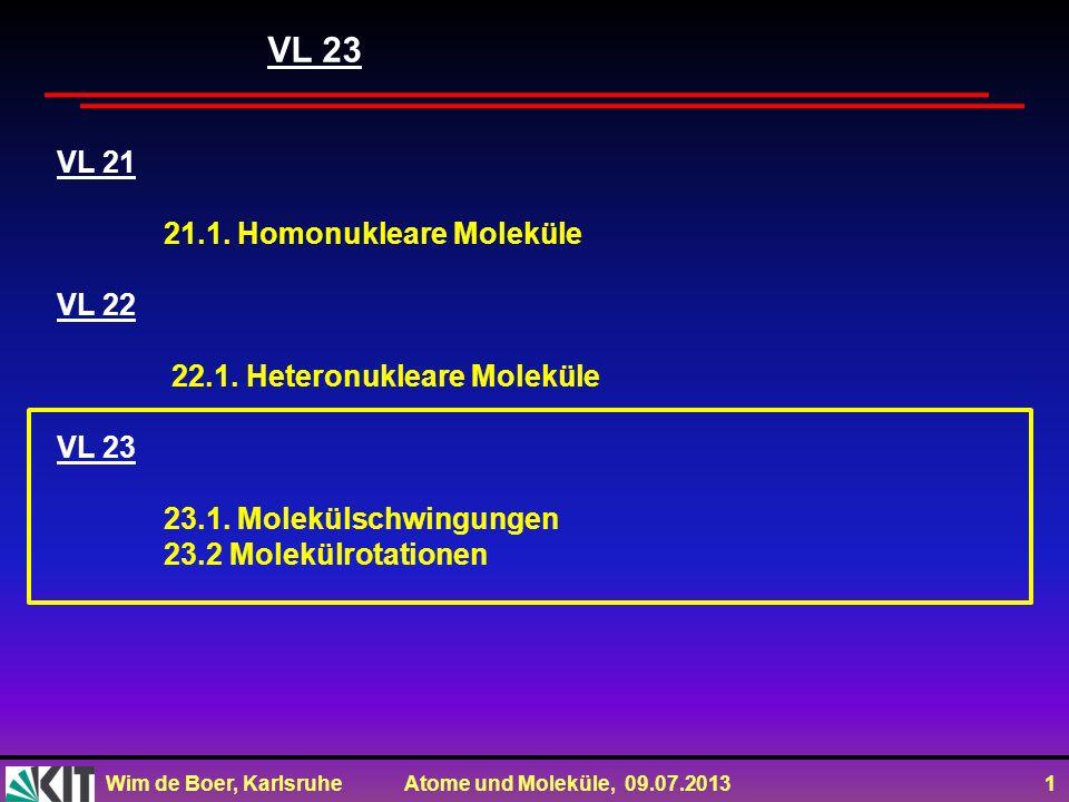 VL 23 VL 21 21.1. Homonukleare Moleküle VL 22