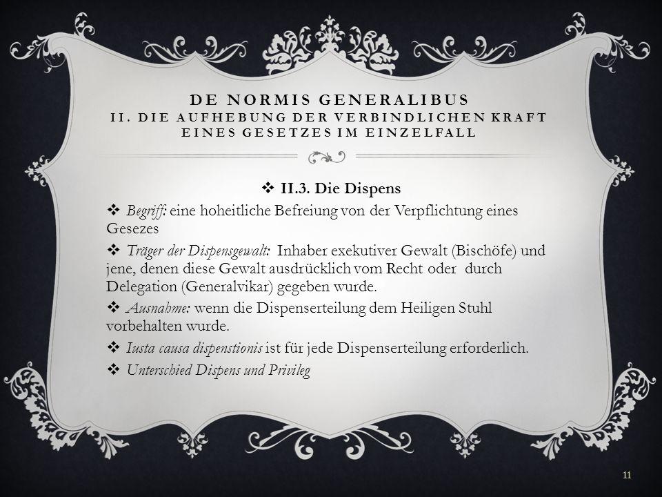 De Normis Generalibus II
