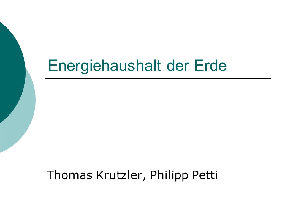 Energiehaushalt der Erde