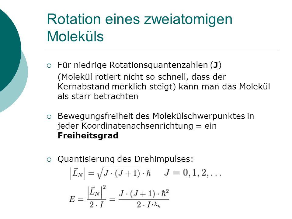 Rotation eines zweiatomigen Moleküls