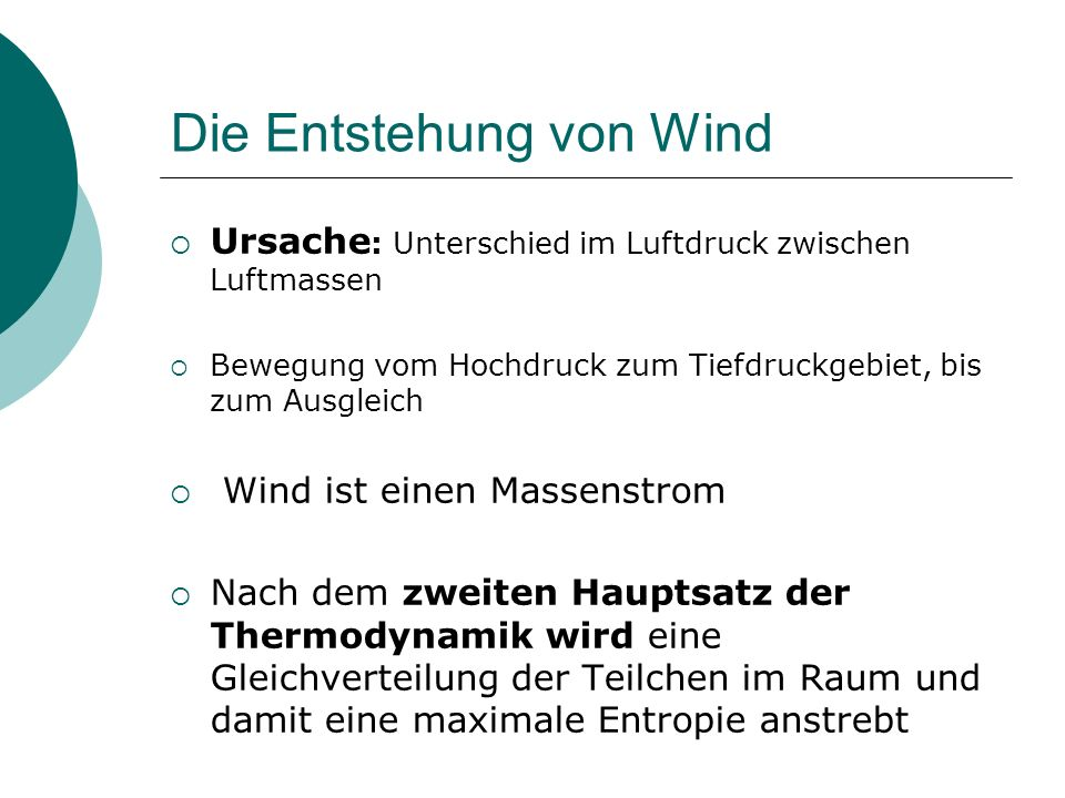 Die Entstehung von Wind