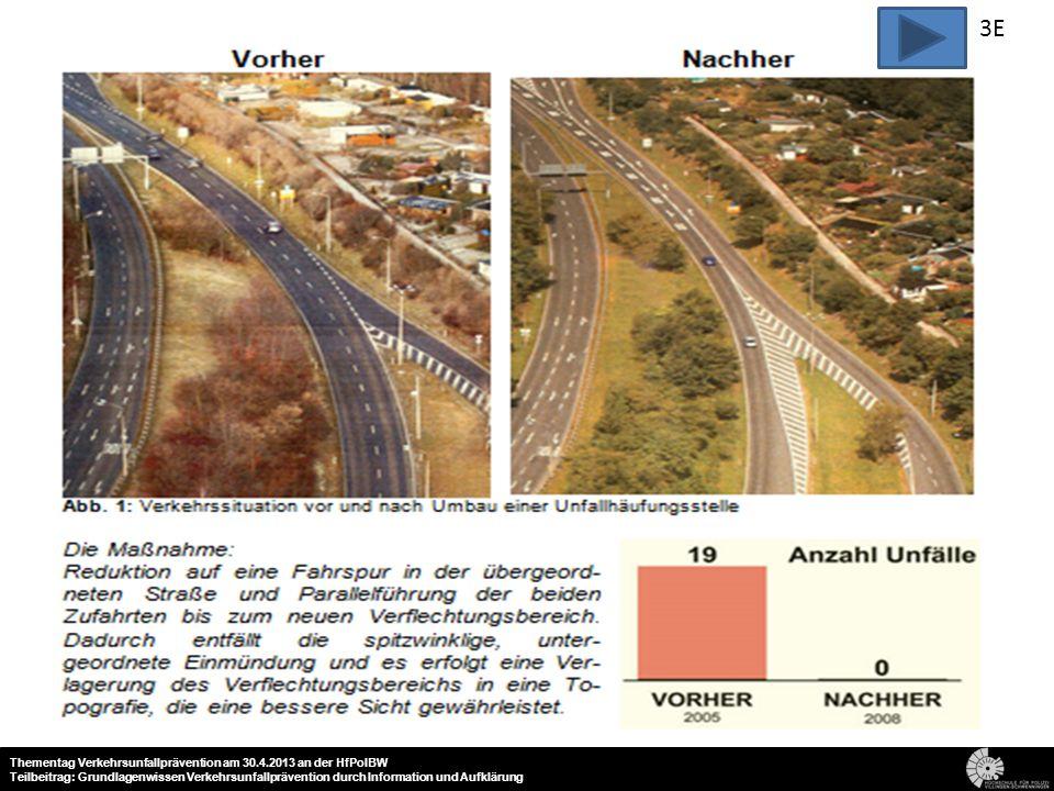 3E 21 Thementag Verkehrsunfallprävention am 30.4.2013 an der HfPolBW