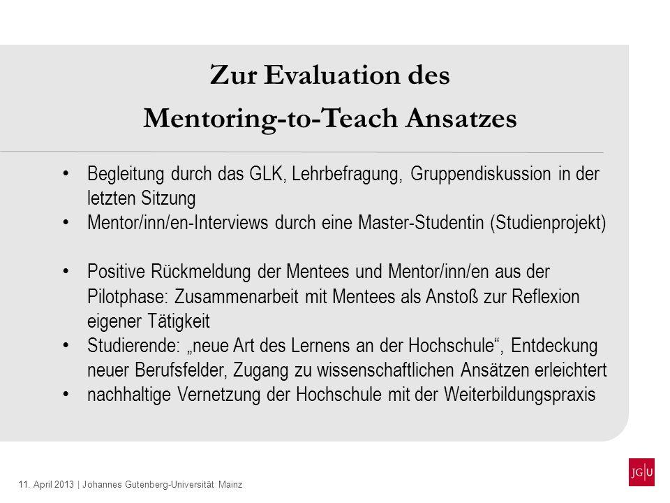 Mentoring-to-Teach Ansatzes