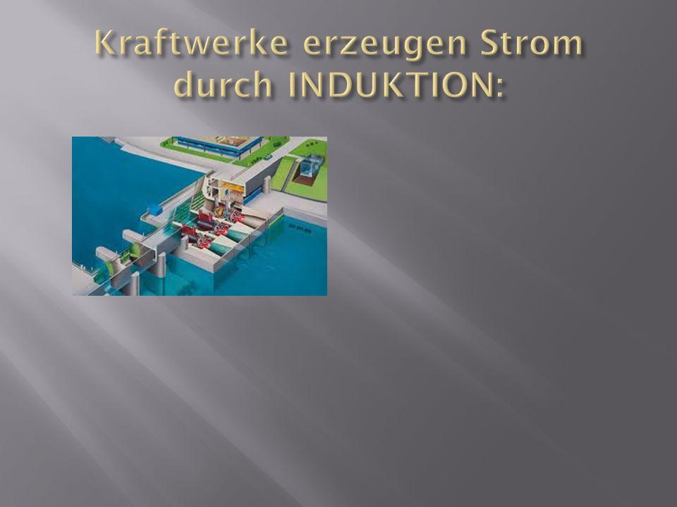 Kraftwerke erzeugen Strom durch INDUKTION: