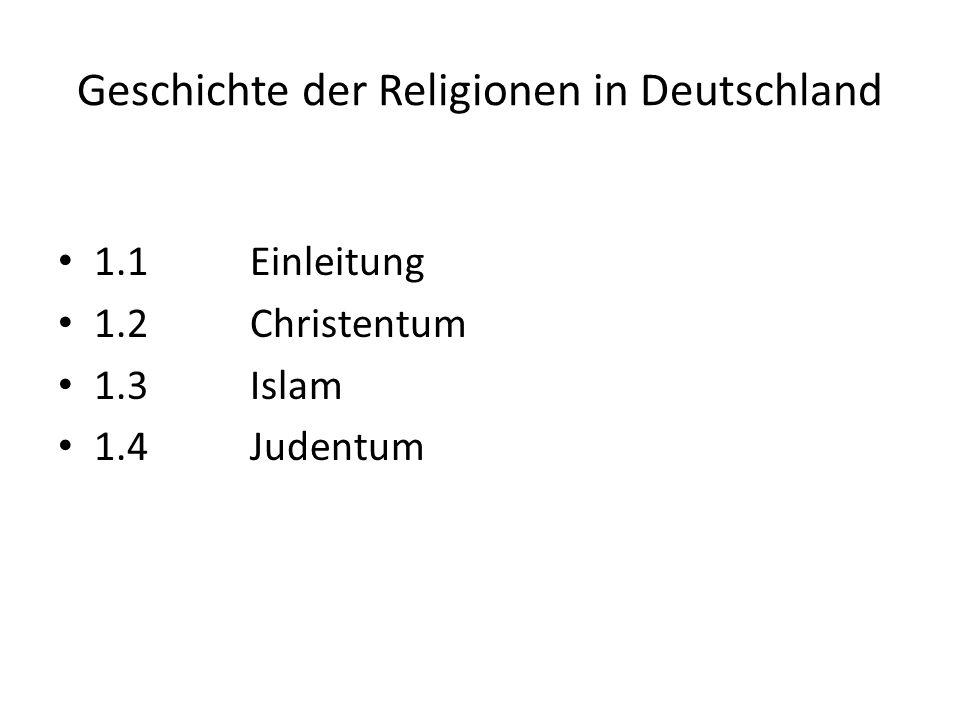 Geschichte der Religionen in Deutschland