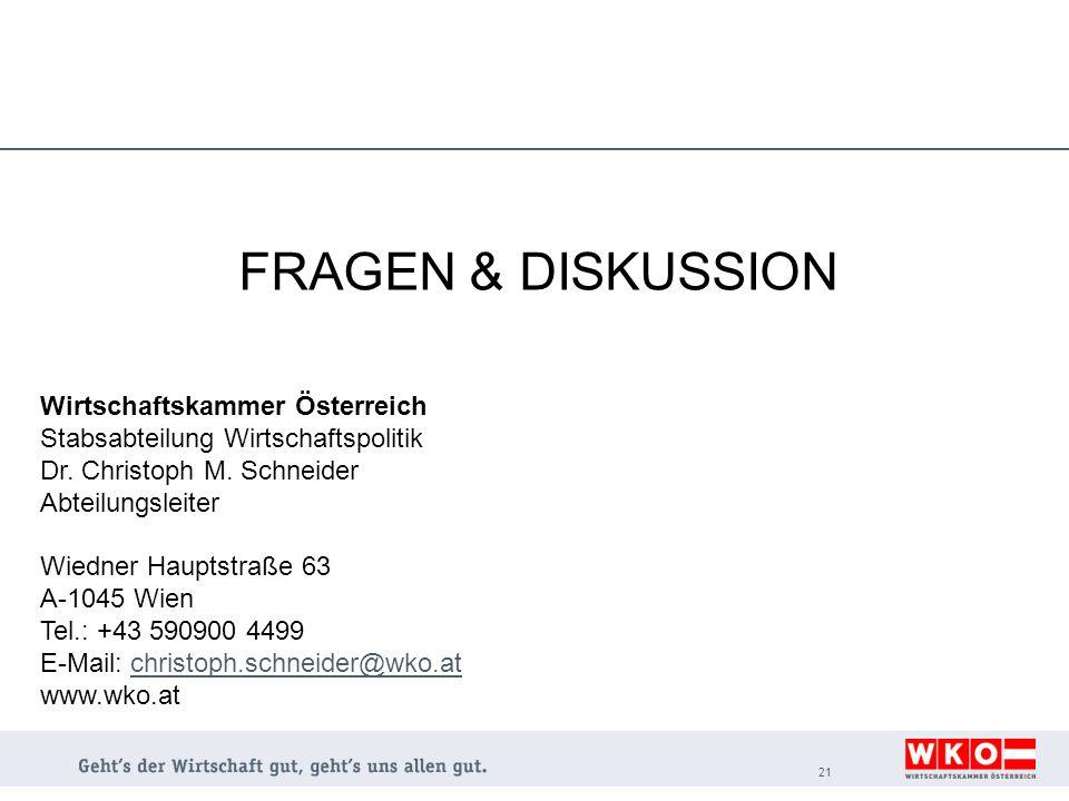 FRAGEN & DISKUSSION Wirtschaftskammer Österreich
