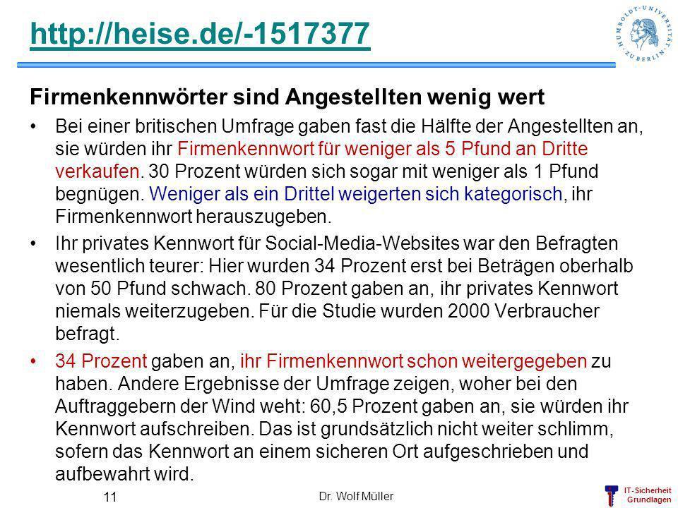 http://heise.de/-1517377 Firmenkennwörter sind Angestellten wenig wert