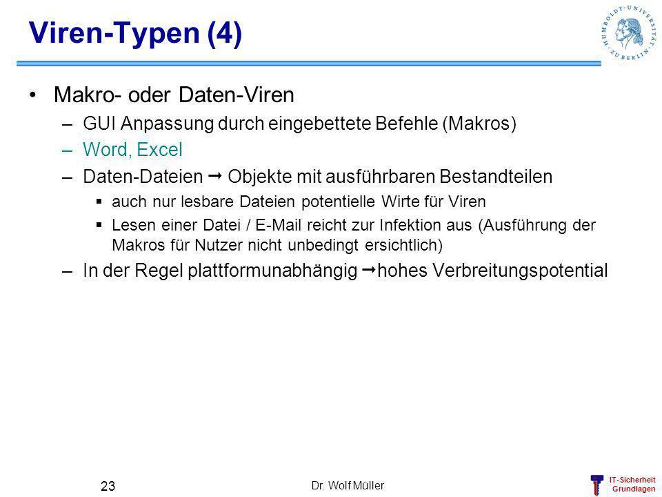 Viren-Typen (4) Makro- oder Daten-Viren