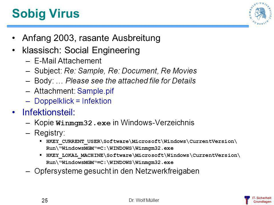 Sobig Virus Anfang 2003, rasante Ausbreitung