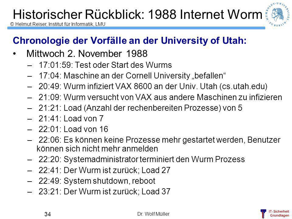 Historischer Rückblick: 1988 Internet Worm