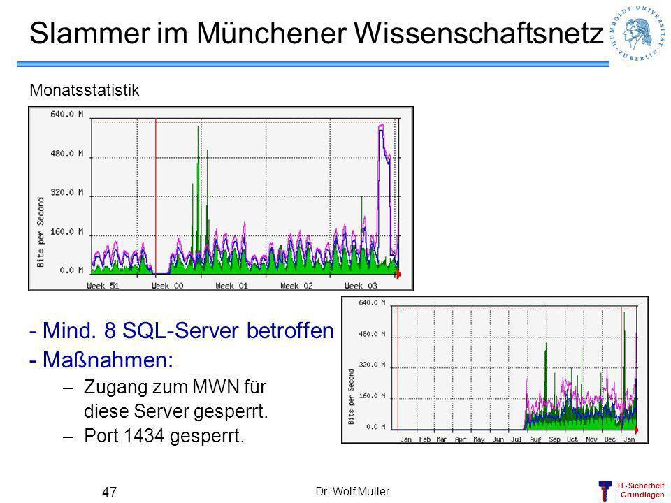 Slammer im Münchener Wissenschaftsnetz