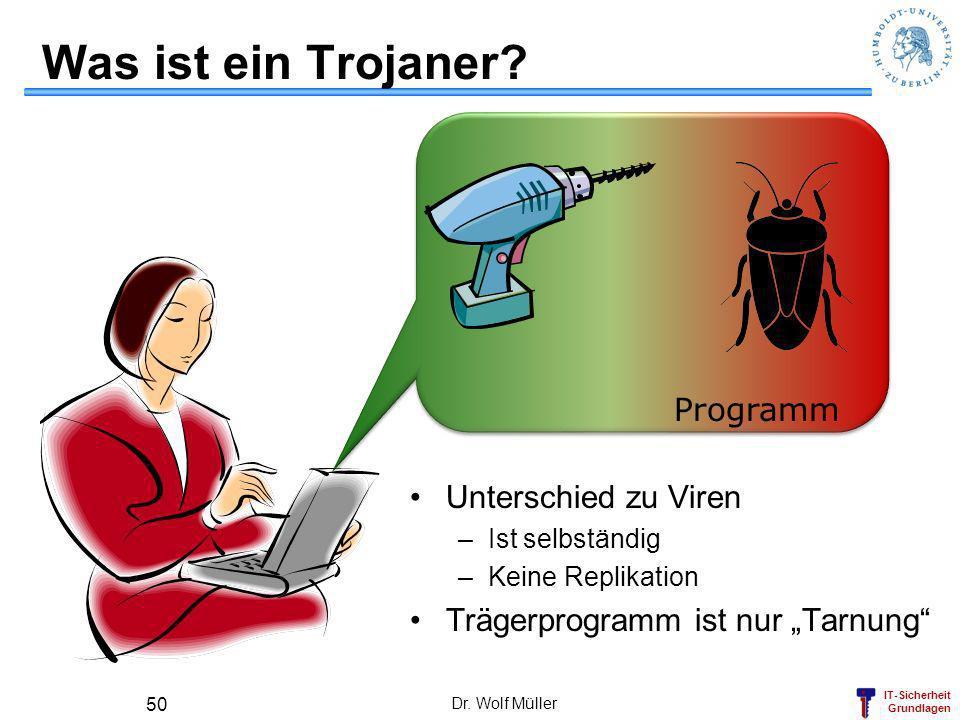 Was ist ein Trojaner Programm Unterschied zu Viren